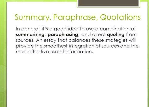Integrating sources into your writing needs identify the presence