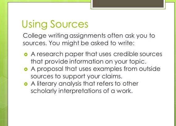 Integrating sources into your writing needs original ideas