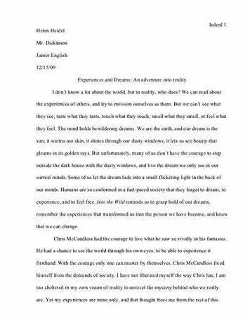 Into The Wild Essay Thesis Proposal Into The Wild Essay Thesis Proposal However But Other Files