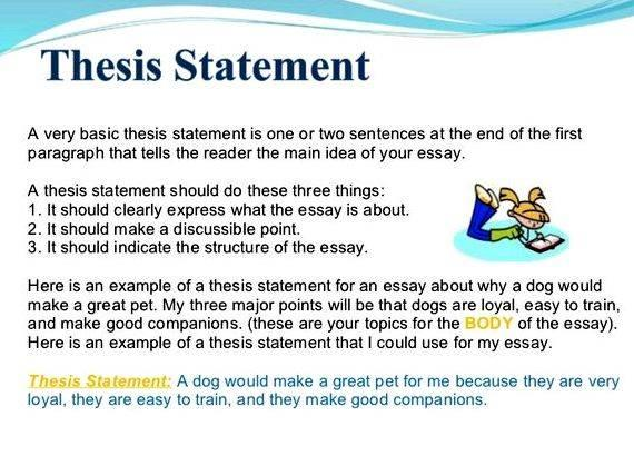 how to write a thesis statement and introduction