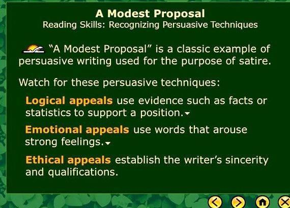 Not Too Modest Purposal Coursework Example Service