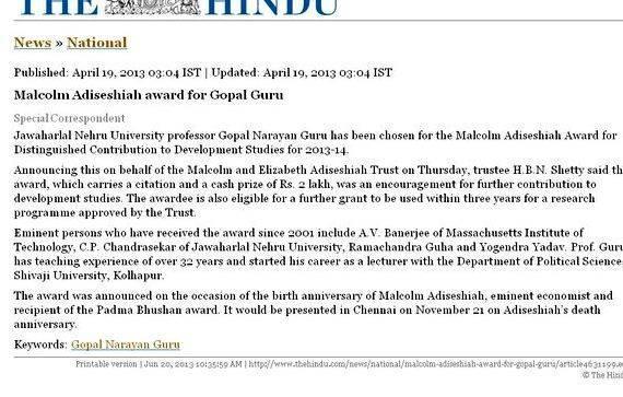 Jawaharlal nehru award for best thesis proposal Shri Prakash Javadekar
