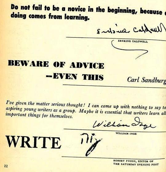 John gardner writing advice articles tanks entered the smoke