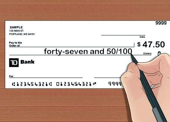 Keep your balance while writing checks with cents the number of cents