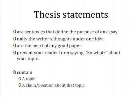 keys to writing a good thesis statement