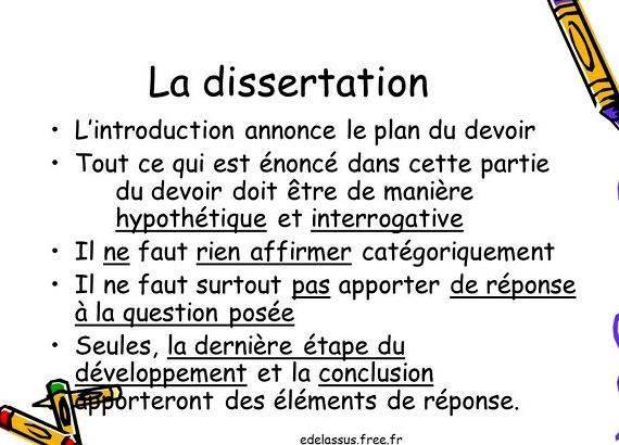 Annonce du plan dissertation