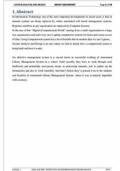 Library management system documentation thesis proposal Finally, we also expressed our