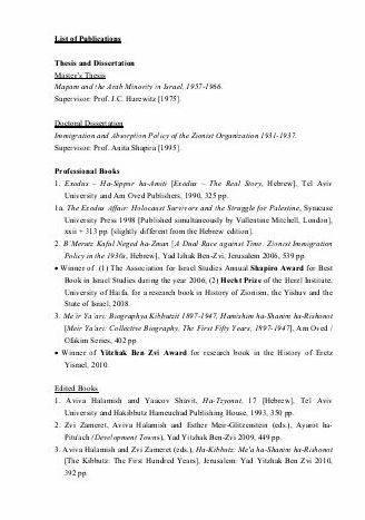 List of publications in thesis proposal discussion              present any results
