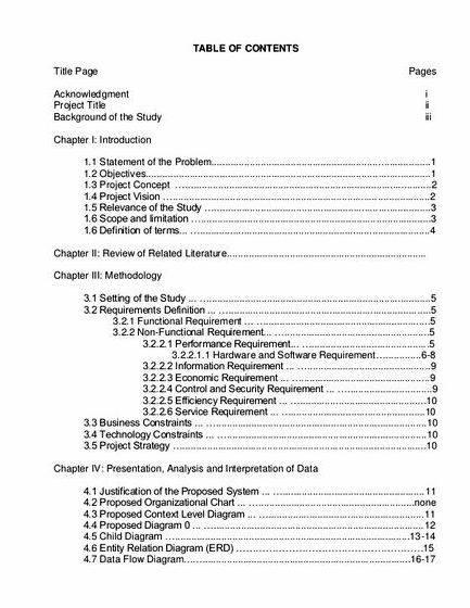 List of system title proposal for thesis implemented as well