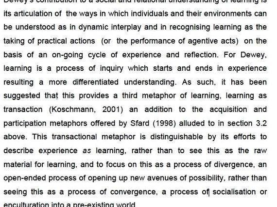 Doctoral dissertation literature review
