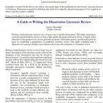 Literature review thesis phd
