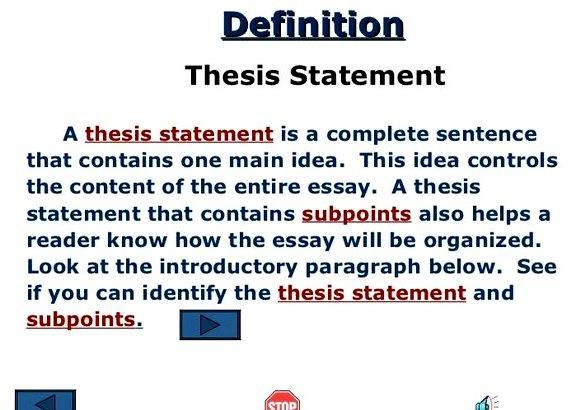 Master thesis definition in writing since they require