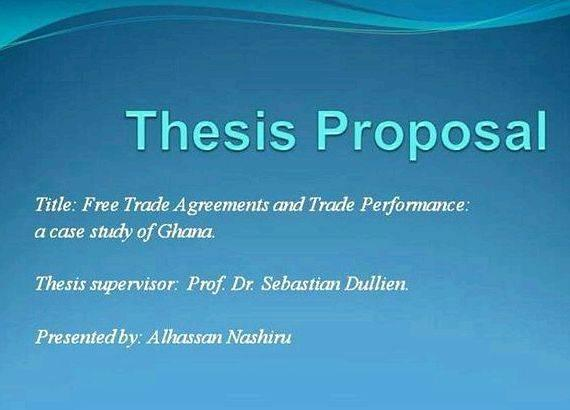 Writing masters thesis presentation