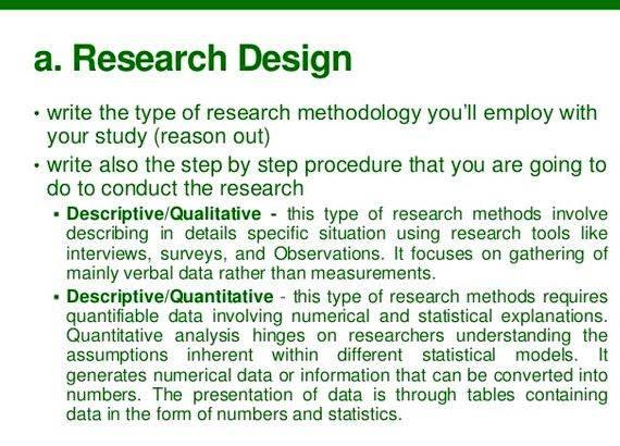 Dissertation proposal research method