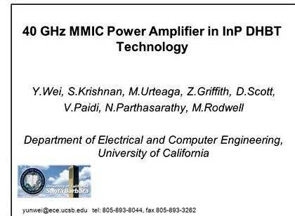mmic power amplifier thesis