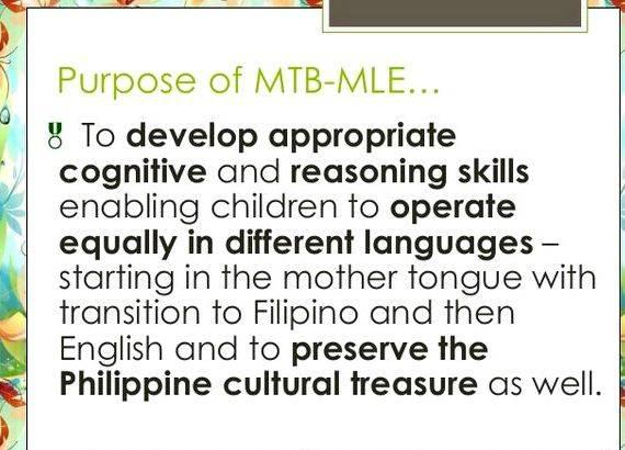 Mother tongue based multilingual education thesis proposal the English