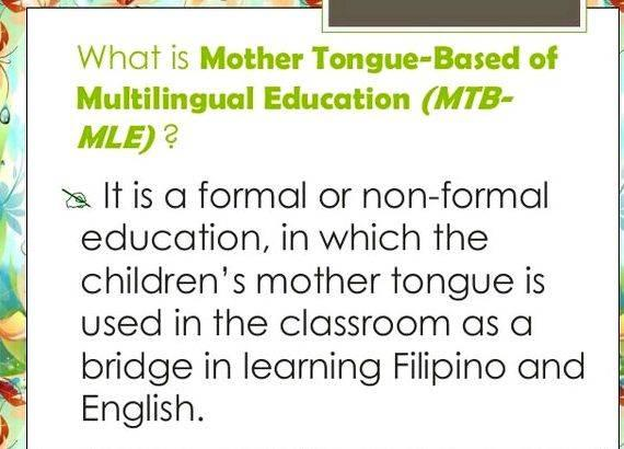 Mother tongue based multilingual education thesis proposal on the Effects