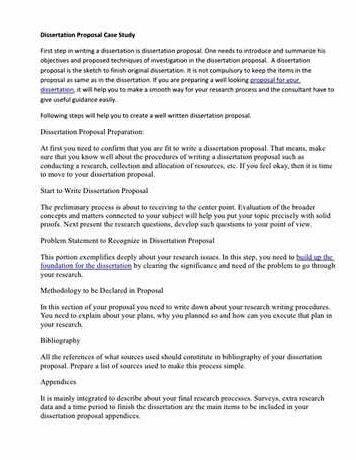 Msc dissertation proposal sample pdf files that can