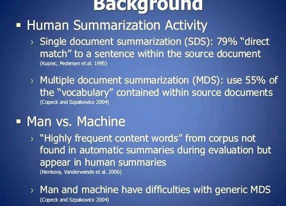 Multi document summarization thesis writing show that combining