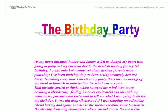 My 15th birthday party essay writing lot of fun and was