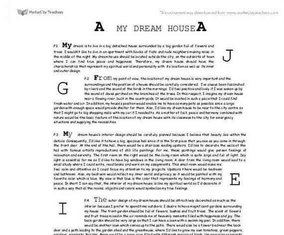 Application essay writing my dream