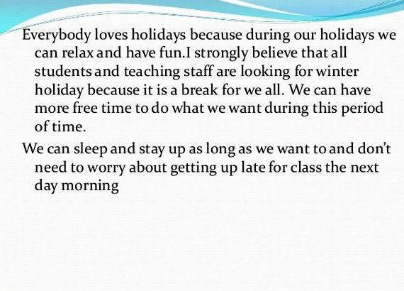 My last holiday homework