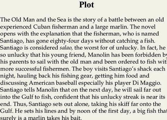 My old man and the sea summary writing of the other fisherman