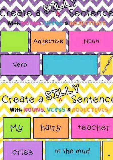 My writing space sentences with adjectives frequently have to
