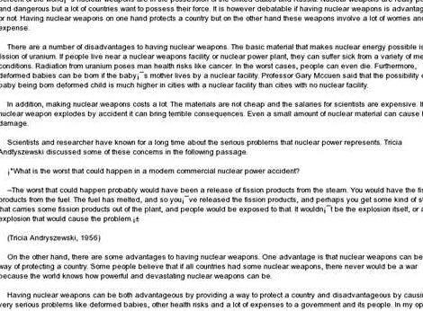 Nuclear weapons essay thesis writing ESSAY ABOUT NUCLEAR WEAPONS