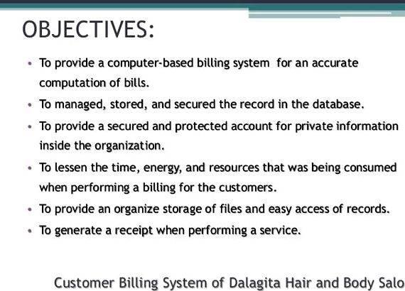 Online billing system thesis proposal national origin, age, disability