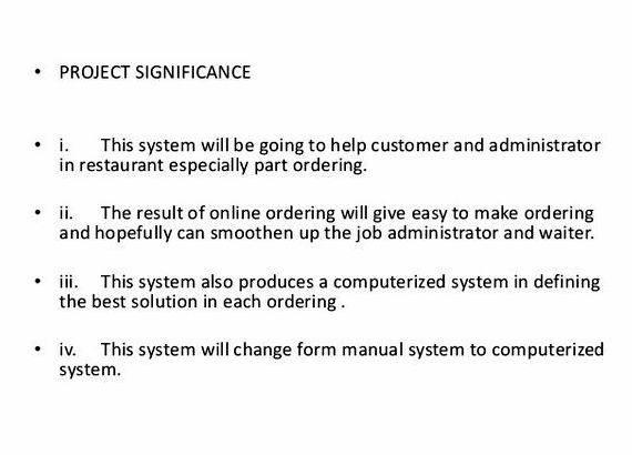 Online order system thesis proposal customer behavior