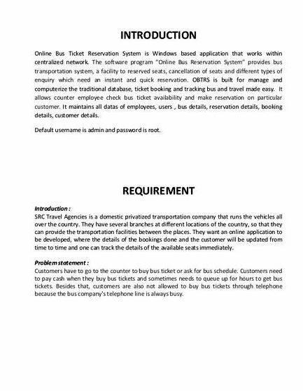 Online ticketing system thesis proposal management and