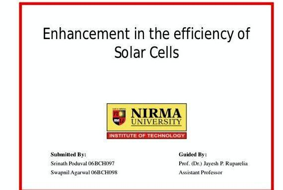 Phd thesis solar cell