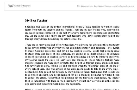 paragraph writing my class teacher essay