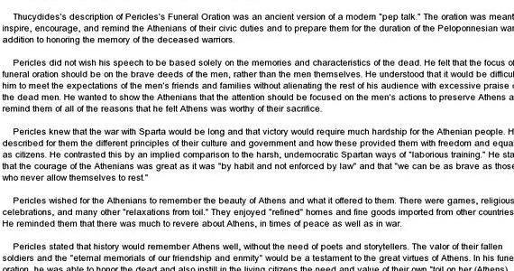 Pericles funeral oration thesis proposal what side you