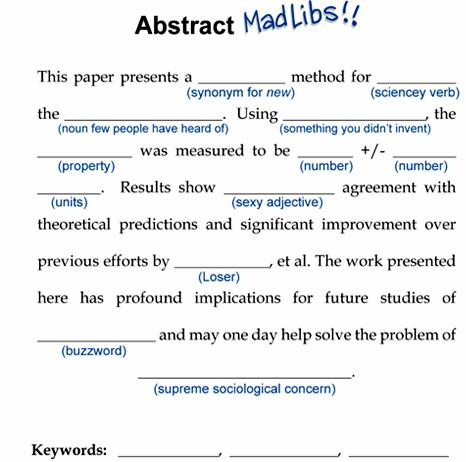 Phd comics writing an abstract for a poster results are ready