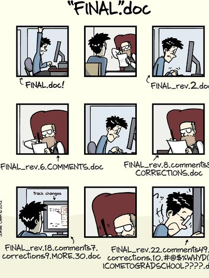 Phd comics writing an abstract for a poster pretty sure that