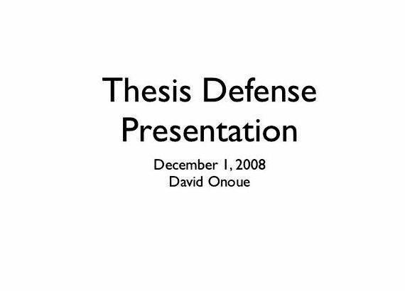 Phd dissertation defense presentation ppt sample across BC for
