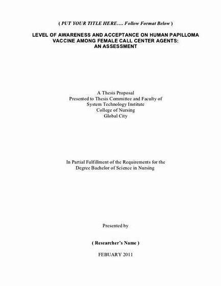Phd dissertation sample topics for nursing of the research that