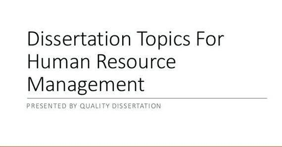 Dissertation human management phd resource