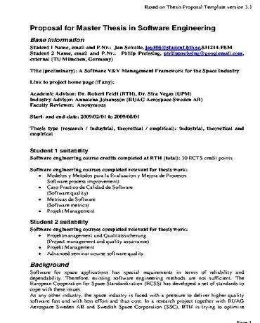 Phd thesis sample proposal for sponsorship formal application, to ensure it