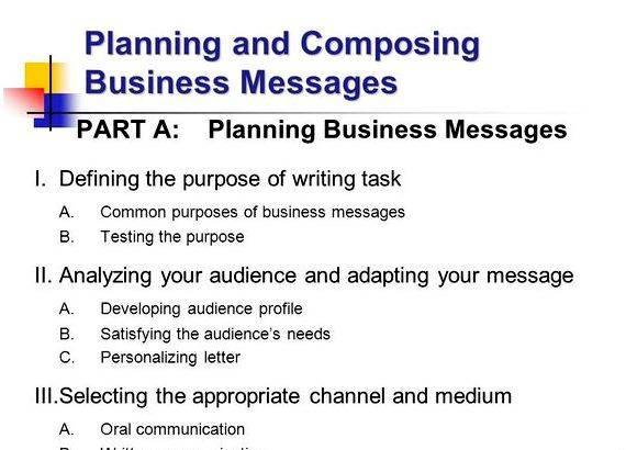 Planning writing business messages for business these questions will
