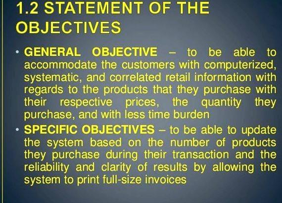 Order and sales system thesis
