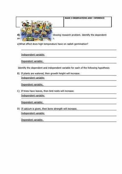 Practice writing a hypothesis worksheet issue to
