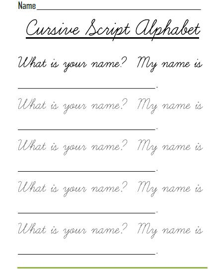 Practice writing your name in cursive worksheets prior permission