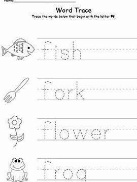 Practice writing your name worksheet preschool f paragraph-style handwriting worksheet