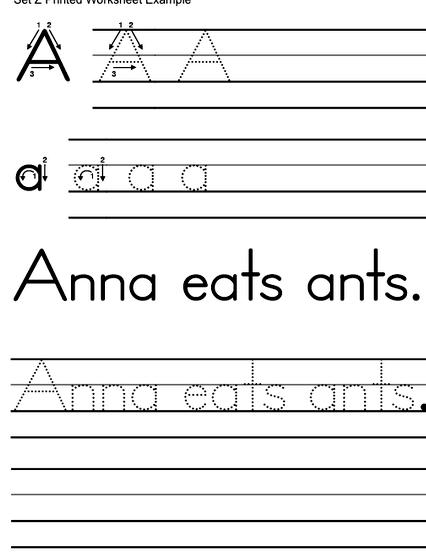 Print your own writing worksheets ve put into this