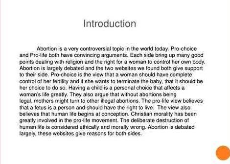 Essays about abortion being illegal