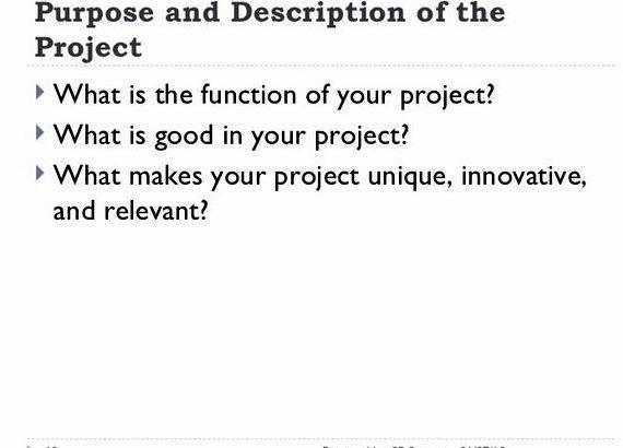 Project context in thesis proposal instruction of your school