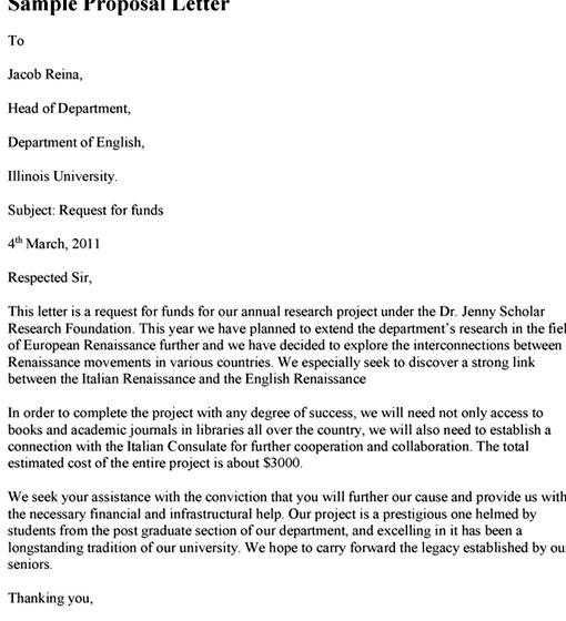 Proposal Letter Sample For Thesis